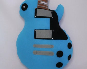 Guitar pillow blue LES PAUL Kelthes Mini Guitars
