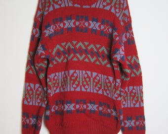 Vintage Knitted Red Sweater