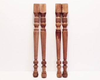 Vintage Wood Table Legs Architectural Salvage Lot of 4