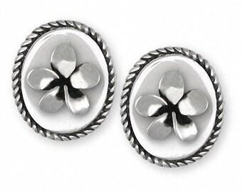 Plumeria Cufflinks Jewelry Sterling Silver Handmade Flower Cufflinks PLM1-CL