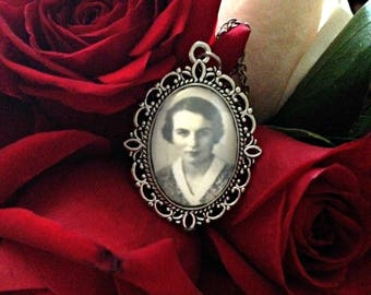 Personalized Ancestor Pendant Necklace, Family History Vintage Photograph Necklace, Genealogy Mothers Day Gift from SweetieSentimental