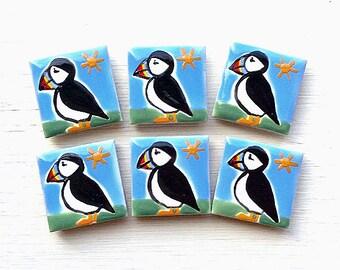 Puffin Magnet, Fridge Magnet, Bird Magnet, Stationary Magnets, Gift for Teacher, Seabirds, Seaside, Coast, Scotland, Iceland, Farne Islands