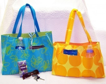 Reversible OR Zippered tote pdf Sewing Instructions Two sizes
