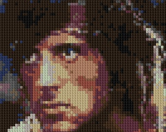 Rambo portrait counted Cross Stitch Pattern Sylvester Stallone First Blood