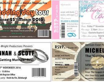 Gig Ticket Invitations