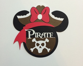 "5"" Personalized Pirate Minnie cruise door decoration"