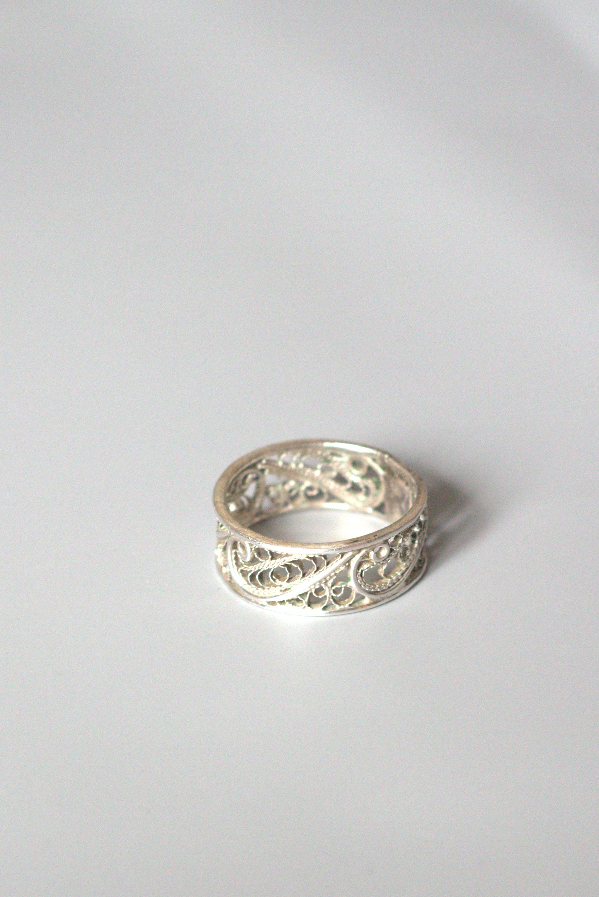 products garden sterling filigree open swirl womens ring wide silverly silver vine pattern band bands mm