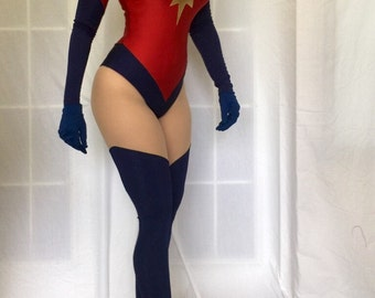 Ms. Marvel Superhero Costume. Cosplay,Custom made