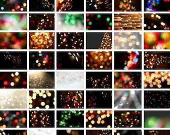 Christmas Overlays, Christmas Bokeh Overlays, Christmas Backgrounds, Christmas Digital Background