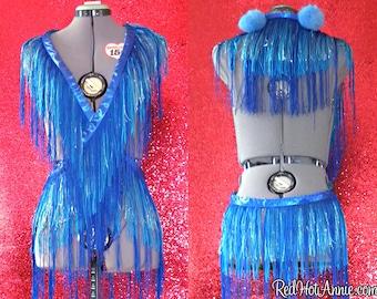Custom Burlesque Showgirl Costume Fringe Boa Wrap - Three Layers of Fringe