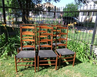 Vintage Nichols And Stone Ladder Back Chairs