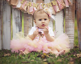 1st Birthday Tutu / Pink and Gold Tutu / Princess Tutu