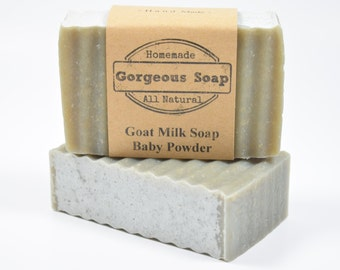 Baby Powder Goat Milk Soap - All Natural Soap, Handmade Soap, Homemade Soap, Handcrafted Soap