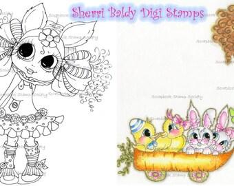 INSTANT DOWNLOAD Digital Digi Stamps Big Eye Big Head Dolls Digi   Besties Img637 By Sherri Baldy