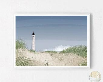 Lighthouse A3 Print