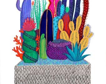 Cactus Box Print