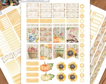 Fall, Autumn Planner Stickers Printable,Birthday,Weekly Kit,Stickers for ERIN CONDREN LIFEPLANNER™,Planner Kit,Stickers kit,Instant download