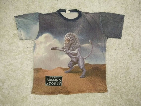 Babylon to shirt 1997 Vintage Bridges Print ROLLING T STONES Full w8zx7Snfq