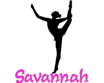 Ballerina decal-Personalized decal-Ballerina sticker-Vinyl wall decal-28 X 28 inches