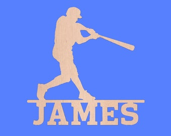 Baseball Wall Door Hanging Personalized Name Custom