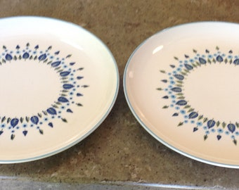 Vintage Marcrest Swiss Alpine Chalet Serving Chop Plate Round Platter Set of 2