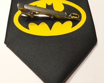 Batman Necktie with Batman Tie Clip