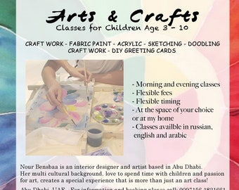 Abu Dhabi - Kid's Arts & Crafts Workshops for kids / Painting Parties /