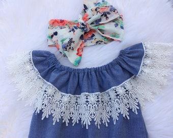 Denim, Girl romper, Summer Outfit,