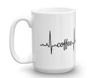 EKG Coffee 15oz Ceramic Mug