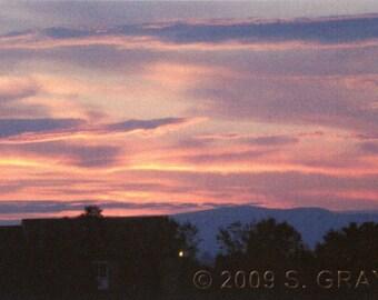 ACEO SFA Summer Sunset 2 art photograph clouds landscape photo nature nitelvr