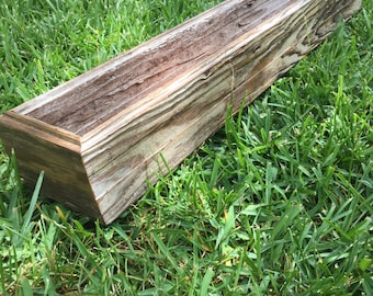 Planter boxes from reclaimed barn wood