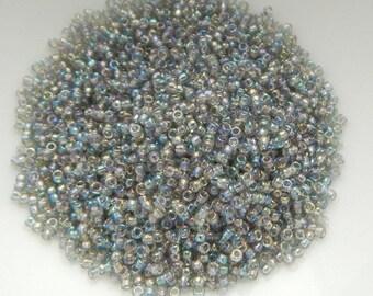 15/o TOHO Seed Beads Transparent Gray Rainbow 10 Grams Glass Bead No. 176