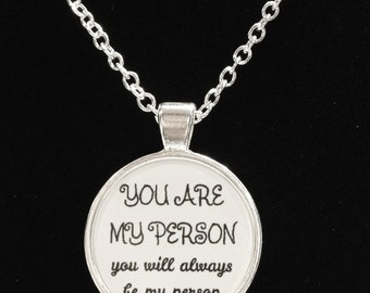 You Are My Person You Will Always Be My Person Best Sister Friend Gift Necklace