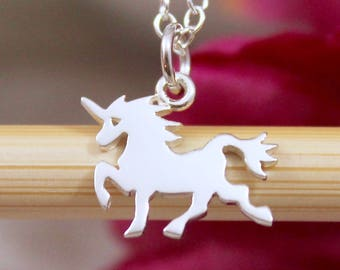 Sterling Silver Unicorn Charms - Magical Unicorn - Create Your Own Charm Necklace