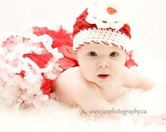 Christmas Toddler Baby Girl Crochet Hat