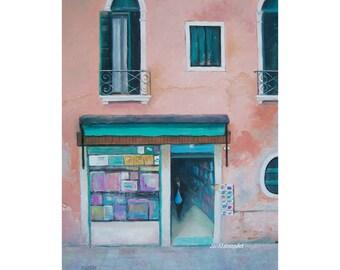 VENICE art, Italy painting, Italy Street Scene, Italian architecture, Street art, wall art, living room art, Etsy Art, by Jan Matson