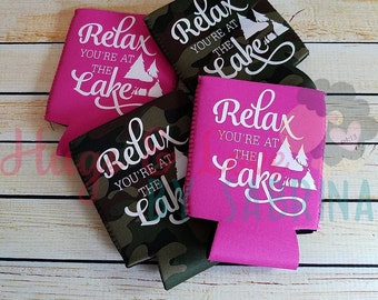 Relax You're at the Lake Can Cooler