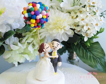Custom Cake Topper- UP inspired wedding