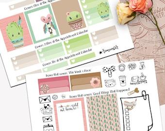 Bohemian Cactus Theme Planner Weekly Sticker SMALL Kit, Passion Planner Sticker, Weekly Set, Sticker, Printed, Cut, Desert, Cacti, Boho
