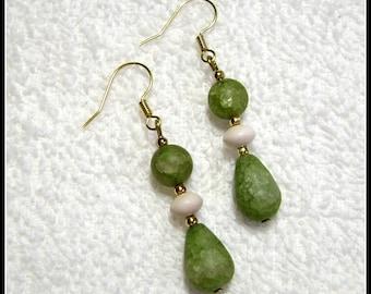 Green Candy Earrings - Green Earrings - Jewelry - E-225