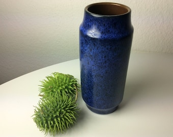 Marzi Remy  1049 20 vase blue back speckled german pottery 70s