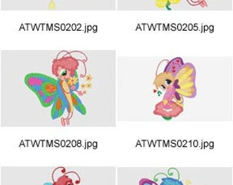 Colorful-Butterflies  ( 10 Machine Embroidery Designs from ATW ) XYZ17E