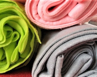 Poly Felt in Soft Pink, Dove Grey, or Spring Green