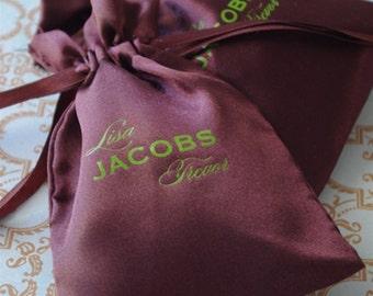 Satin Bag - Personalized Favor Bag - MANY COLORS - custom printed wedding favors treat bags custom favor bags