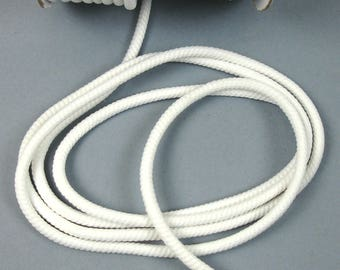 Cord woven polyester white 4 mm X 1 meter