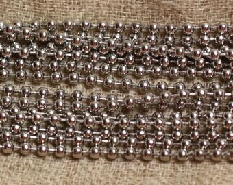 Reel 50 m - chain steel 304 L beads balls 2.4 mm - 4558550088444