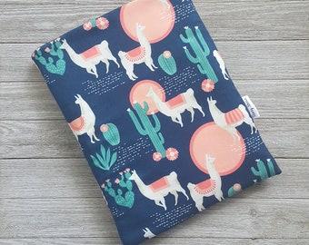 Llama Desert Book Sleeve Story Sleeve - book sleeve, tablet sleeve, e-reader sleeve, kindle case, gift for her, teacher gift, iPad cover