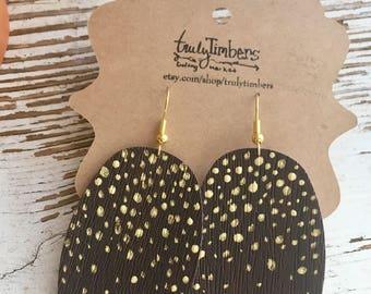 Gold Speckled Ovals