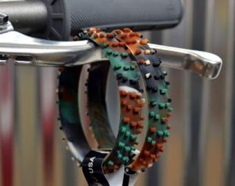 SET OF FIVE Camo Knobby Dirt Bike Tire Wristbands