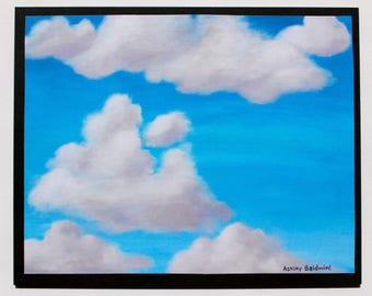 Partly Cloudy Skyscape Print